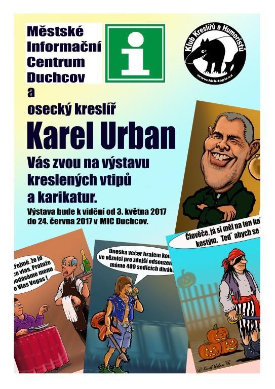 MIC Duchcov-výstava kreslených vtipů a karikatur.