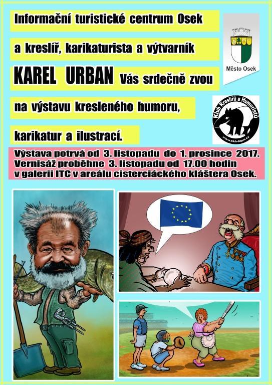 ITC Osek 2017 výstava vtipů a karikatur.