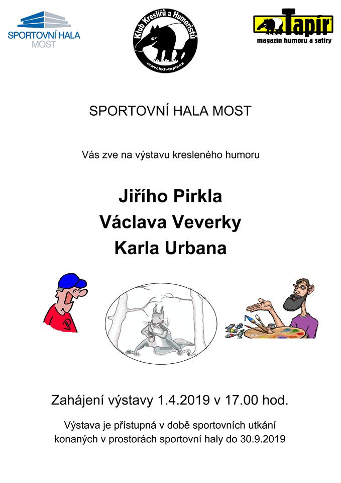 Naše společná výstava s kolegy, kreslíři ve Sportovní hale Most ( od 1.4 do 30.9 2019 ).