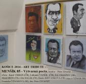 Slovensko,Košice 2014,výstava karikatur Vlad.Menšíka. Kurátor výstavy pan Peter Závacký