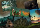 K projektu Alorie a Morgun se připojilo i několik výtvarníků a tak zde byly k vidění i mé ilustrace.