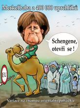 Merkelbaba a 400 000 uprchlíků se umístila na 4.místě.